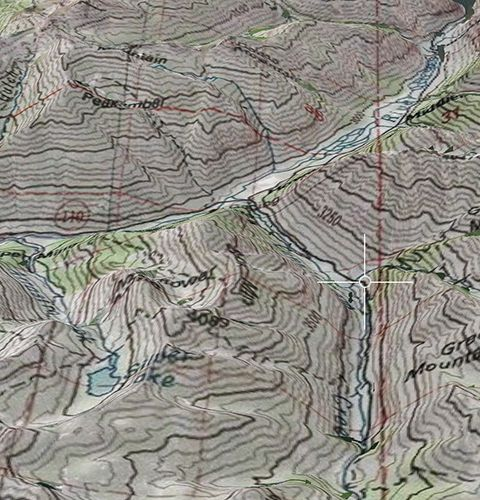 USA - USGS Topo Map as overlay on top of Apple 3D