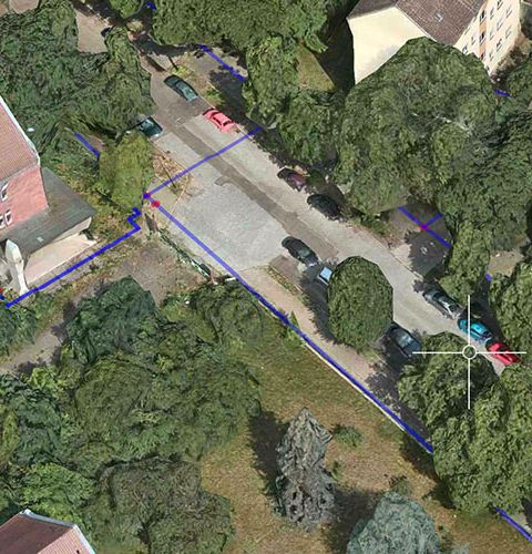 Utility cables on 3D Apple maps